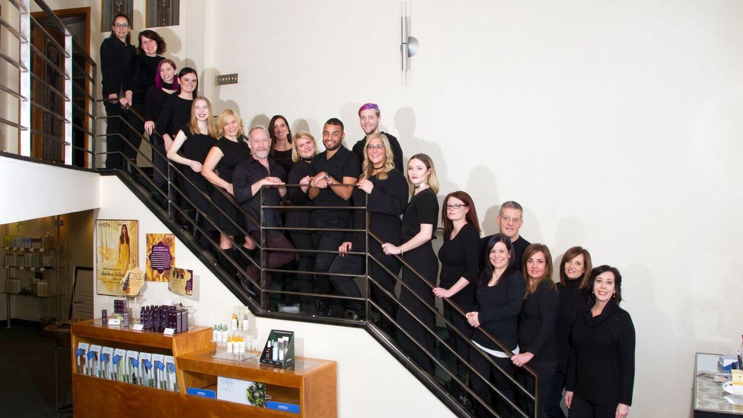 Photo of Shakti Team on stairs
