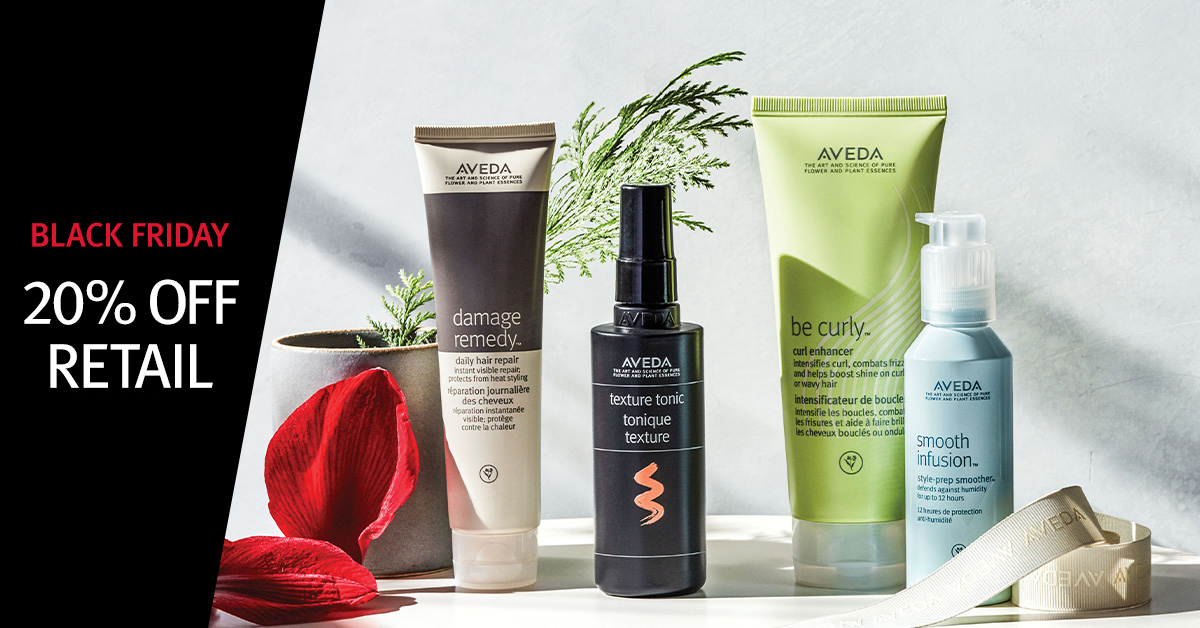 Photo of Aveda products, Black Friday, Gratitude week — Day 5