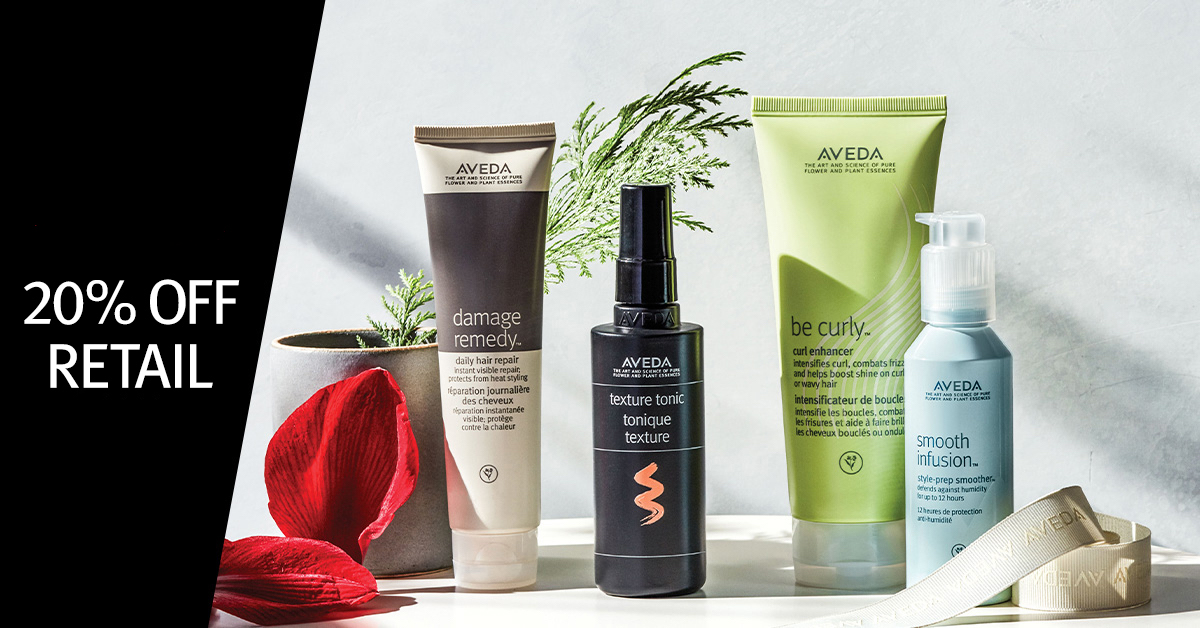 Photo of Aveda products, Gratitude week — Day 5